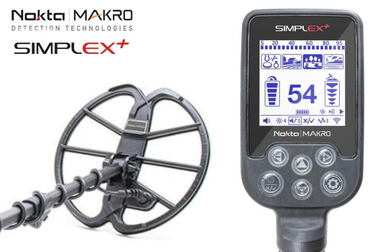 Nokta/Makro Simplex+ WHP Metalldetektor mit Funkkopfhörer